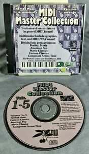 MIDI Master Collection Vol 1 - 5 PC CD 5 Volumes Music Cellphone Ringtone Tested
