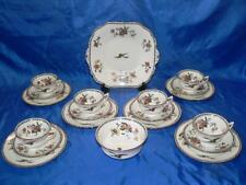 Antique AYNSLEY  CHINA 20  piece  Tea set Cups & Saucers Plates Blue Bird