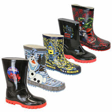 Boys Boots Minion Wellington Wellies Spiderman Olaf Star Wars Mid Calf Disney