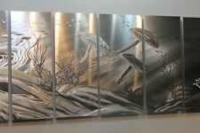 Metal Abstract Modern Silver Wall Art  Sculpture Tentacles By Jon Allen