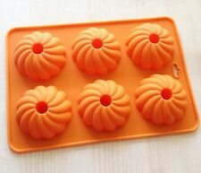 Cake Mold 6-Pumpkin Donut  Soap Flexible Silicone Mould For Candy Chocolate