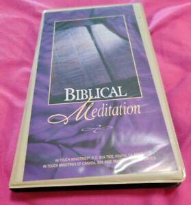 VINTAGE RARE Biblical Meditation 1995 Cassettes Audiobook