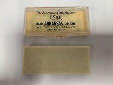 Vintage Case Hard Arkansas Oilstone Knife Sharpener Hone Stone (A3)