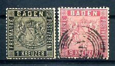 BADEN 1860 10,12 gest schön 255€(J1874