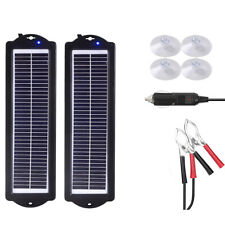 Solar Panel 6watt 2 3w 12v Trickle Charge Battery Charger Kit Caravan Maintainer