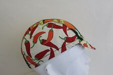 CYCLING CAP HOT SAUCE  CHILE PICANTE  100% COTTON HANDMADE IN USA M L S