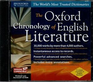The Oxford Chronology of English Literature Pc New XP 30000 Works 4000 Authors