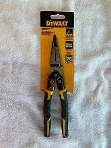"""DeWalt DWHT70277, 8"""" Compound Action Long Nose Pliers"""