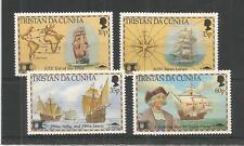 Tristan Da Cunha 1992 découverte de l'Amérique, SG, 522-525 um/M NH Lot 8241 A