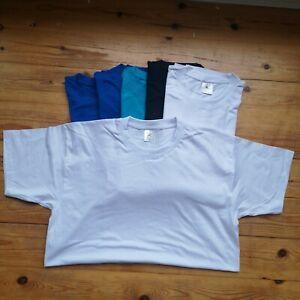 7x medium M MENS tshirt tee BUNDLE T-shirt pack plain job lot mixed cheap A