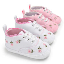Newborn Baby Girl Kids Canvas Shoes Casual Floral Crib Toddler Canvas Shoes
