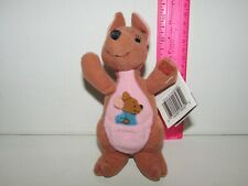"1997 Mattel 6"" Disney Winnie the Pooh KANGA & ROO Stuffed Plush Bean Bag w/ Tag"