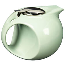 Art Deco Teapot in Mint Green - Removable Diffuser - Retro Sleek Design-  45oz.