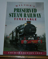 Wilson's Preserved Steam Railway Timetable - Paperback Book - VGC