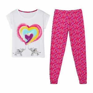 Avon Elephant Heart Pyjamas PJs Cotton Size 8/10 gift tied in pack (O)
