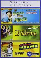 3 Peliculas; Capulina (DVD, 2008, 2-Disc Set) New, Spanish Language only