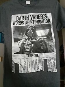Youth Star Wars Darth Vaders Words of Intimadation short sleeve t-shirt size S