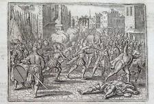 Gravure 1674 hertog Alva Spaanse furie Nederlanden