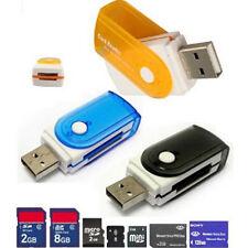 Todo en 1 USB Lector Tarjetas Memoria Adaptador a M2 SD SDHC Mini SD TF Tarjetas