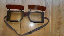 alte Motorradbrille Fliegerbrille Kradmelder mit Sonnenblenden