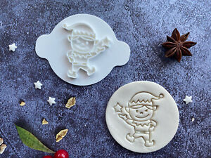 Elf | Embossing Stamp | ebs237 | Christmas | Cupcake | Fondant Cake