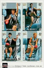 2004 Select AFL Ovation Trading Cards Base Team Set Port Adelaide (10)
