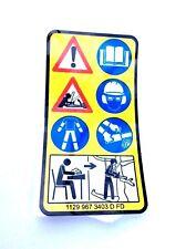 Stihl Motosega istruzioni Label 1129 967 3403 MS200 MS200T 020 020T parti
