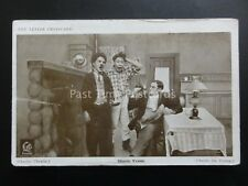 Charlie Chaplin CHARLIE YAWNS (Charlie The Tramps) Red Letter Photocard c1915