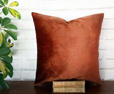 Terra-cotta soft  velvet  pillow couch cushion cover-16''x16''