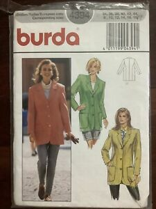 New Factory Folded MCCALL'S Misses Jacket / Coat  Pattern 4394 Size 8-18