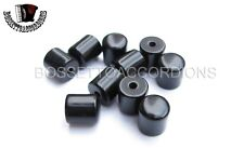 Accordion Bass Buttons Pistons Black Plain 9.5x10.5 Each