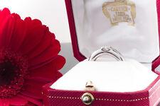 Schmuck Cartier Solitär Ring C Herz mit 1 Brillant in 750 Weißgold Größe 54 OVP