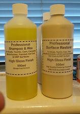 Surface Restorer Polish  & Wax Shampoo, GRP, fiberglass, paint, boats, cars