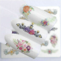 1 Sheets Stickers Manicure Decals 3D Nail Art Flower Transfer Decoration Tips