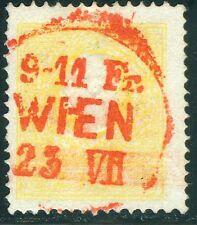 Österreich 1858 Nr. 10 II gestempelt rot 2 Kreuzer WIEN geprüft Ferchenbauer