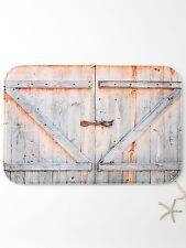 Thicken Woodgrain Door Print Bath Rug