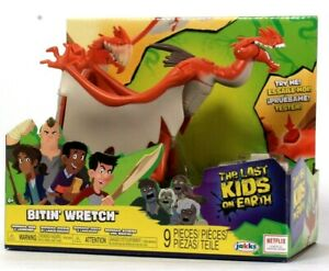 Jakks Pacific Netflix The Last Kids On Earth Bitin Wretch Diorama Disc & Launch