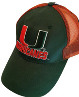 Miami Hurricanes  Hat Adjustable Mesh Trucker Team Cap New