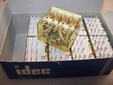 (9) LOT OF 9 IDEC 24 VAC PLUG IN  RELAY 14 BLADE RH4B-UL