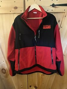 US National Guard Men's Size XL Long Sleeve Full Zip Fleece Jacket *WORN ONCE*