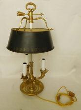 Lampe bouillotte ou de bureau en bronze et tôle de style Restauration, fin XIXe