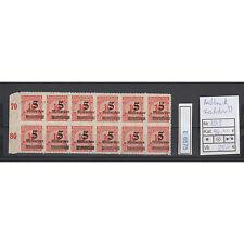 (E6575) DR Nr.334 B** Aufdruckmarken verschobener Aufdruck im 12er Bogenteil