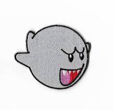 Super Mario BOO Geist Aufnäher Patch Abzeichen Bügelbild Cap Badge Hut Buu Huu