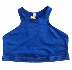 Victorias Secret Cotton Crop Unlined High Neck BRALETTE Lounge Sports BRA Large