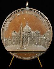 Médaille papale Pape Léon Leone XIII Pope Papa Basilica S Pietro Rome 1830 Medal