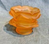 Satin Amber Rose Petal Flower Glass Shade Statue Lamp Fixture Chandeler