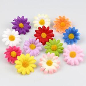"""20Pcs 1.5"""" Artificial Silk Gerbera Flowers Daisy Sunflower Heads Wedding Decor"""