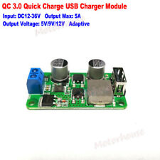 QC3.0 5A Quick Charging USB Charger Module DIY Phone Charger DC 5V 9V 12V Output