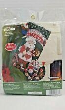 "Bucilla Santa's Bakery Felt Applique Christmas 16"" Stocking Kit 86437 Sweets"