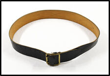 Vintage Original Black Soviet Union Russian Army Officer genuine leather belt
